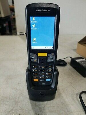 Motorola Zebra MC2180 Mobile Computer Scanner with Charging Base & Power Supply