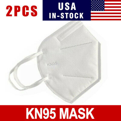 2 PCS KN95 Disposable Face Mask Adult Protective Ear Loop Mouth Cover