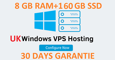 Windows 2019 Rdp/ Vps Server 8Gb Ram + 160 Gb Ssd 30Day Warranty