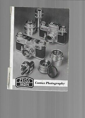 Zeiss/Ikon Contax Photography Vintage Manual