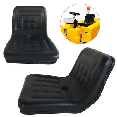 Universal Dumper Mower Tractor Seat Steel Frame + PVC Black 150mm Adjustable UK