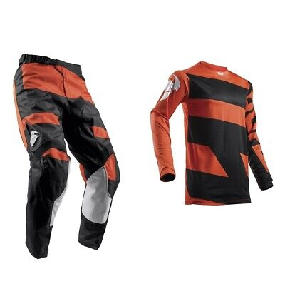 Thor Pulse Level MX Enduro Combo Hose + Shirt Fox Motocross Orange Schwarz KTM
