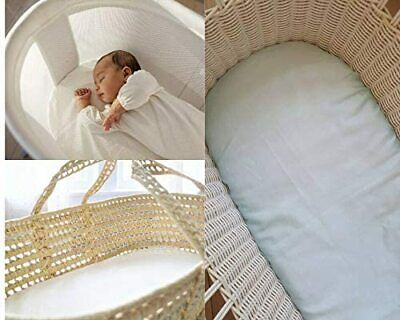 Baby Moses Basket Mattress Waterproof Protector Cover Anti Allergenic 75 X 35 CM