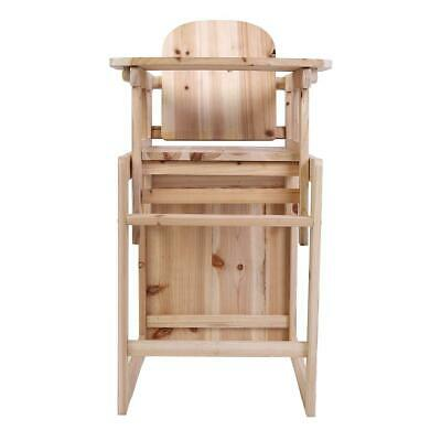 3 in 1 Child Wooden High Chair & Table Set Baby Kid Feeding Highchair Detachable