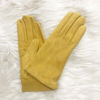 New, Sermoneta Gloves  Cashmere Lined Suede Gloves, size 8