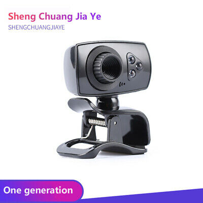 Full HD 50MP Webcam USB 3 LED Video Camera with Microphone for PC/Laptop Clip-on