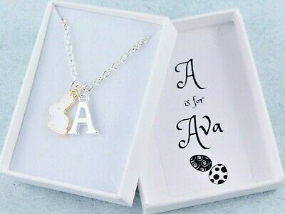 Easter Necklace, Personalised With Name and Initial, Girls Easter Bunny Gifts