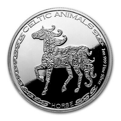 2020 Republic Of Chad Celtic Animals Series Horse 1 oz Silver Capsuled BU Coin
