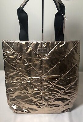 Victoria's Secret Women's Metallic Rose Gold Shopping Tote Bag ~New With Tags~