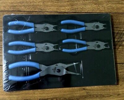 New Snap On Pearl Blue 5 Pc Retaining Ring Pliers Set SRPCR105ADPB