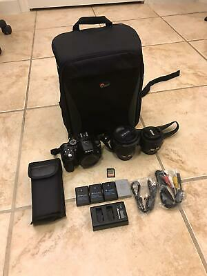 Nikon D5300 DSLR Wi-Fi Camera Bundle (Backpack, 2 Lens, Extra Batteries, Charger