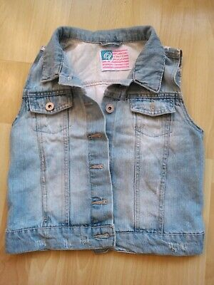 Denim Gilet - Age 9-10 - Stars And Stripes On Back - Good Condition