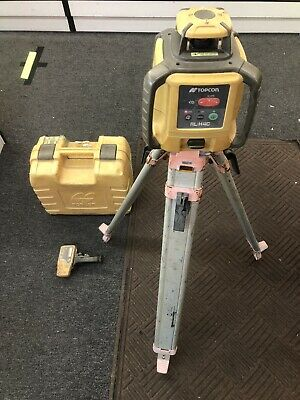 Topcon RL-H4C Self Leveling DB Kit With Tripod, LS-80L Reciever and case.
