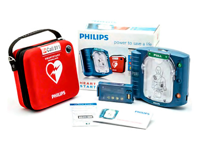 Philips M5066A HeartStart Home AED Defibrillator with Slim Carry Case