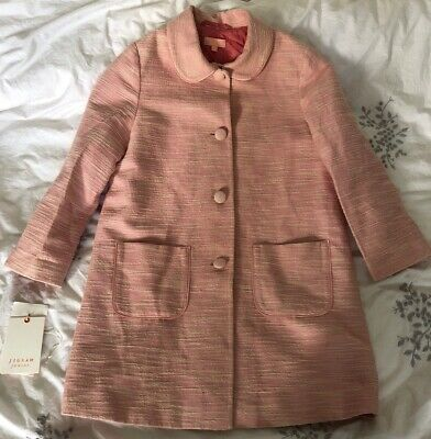 Jigsaw Girls Pink Spring Grosgrain Coat Age 8-9 Years