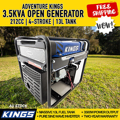 3.5 kVA Generator Petrol Pure Sine Wave Inverter Portable Camping Rated 3500W