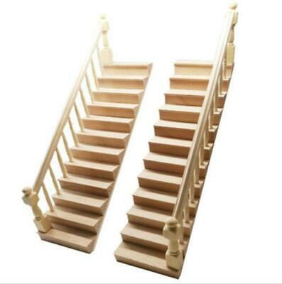 Wood tone Spiral staircase  1:12 for Doll house  16 individual steps