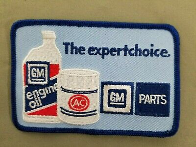 GM Embroidered Iron On Automotive Patch.