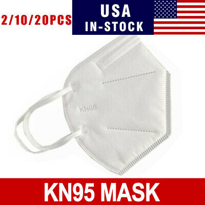 2 /10 / 20 PCS KN95 Disposable Face Mask Adult Protective Ear Loop Mouth Cover