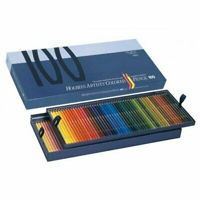 Holbein Colored Pencil set of 100 Colors OP940 Paper Box w/Tracking  / Coloured