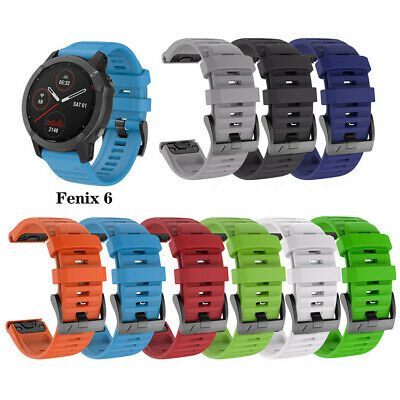 Silicone Watch Band Quick Fit Strap for Garmin Fenix 6X/6 Pro 3HR/5/5X 26MM 22MM