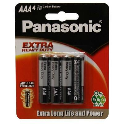 AAA Battery Heavy Duty 4pcs Panasonic Long Life Power Earth Friendly Zinc Carbon