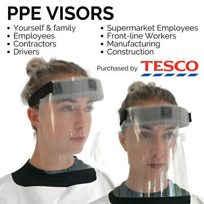 PPE Visor Face Shield Guard Mask Clear Perspex- UK MADE Fast Dispatch
