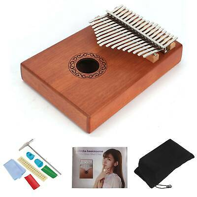 Kalimba 17 Keys Thumb Piano with Tune Hammer Portable Wooden Finger Piano