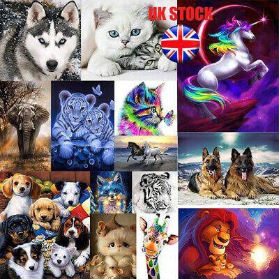 UK Full Drill 5D Diamond Painting Embroidery Cross Craft Art Home Decor Animals
