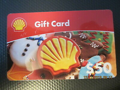 $50 SHELL Christmas cookie GAS  trade NO VALUE collect GIFT CARD 1