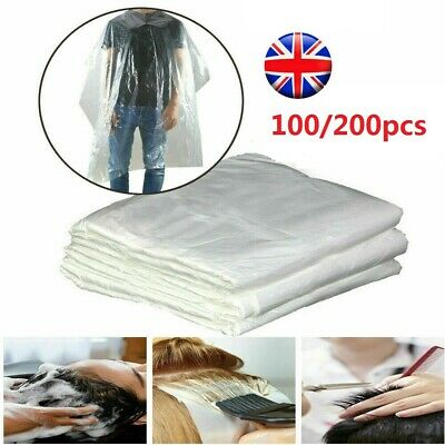200Pc Disposable Salon Barber Gown Cloth Hair Cutting Cloak Hairdressing Cape UK