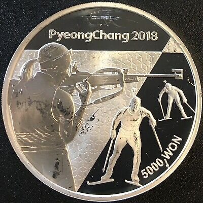 Korea - Silver 5000 Won Coin - Olympic coin - 2016 - Proof
