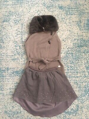 Mayoral Girls Knitted Waist Coat Age 10 -140cm - Free Mayoral Skirt !
