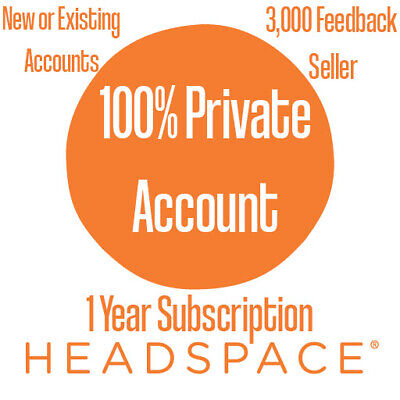 Headspace 12 Month Sub Meditation Mindfulness App 1 Year iPhone Subscription