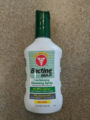 Bactine Max Pain Relieving Cleansing Spray First Aid, No Sting,  5 fl oz - NEW