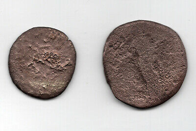 2 x Large Unidentified Roman Coins, found in UK