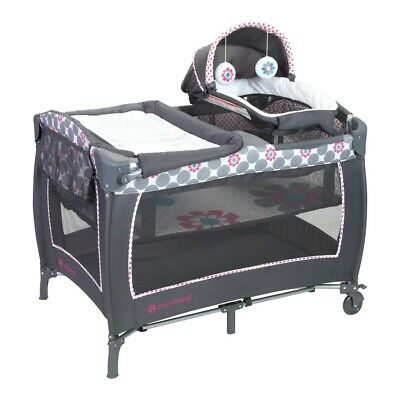 Nursery Center Play Yard Daisy Dots Lil Snooze Deluxe Baby Trend Baby Gear