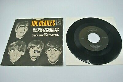 """Beatles VJ Do You Want to Know a Secret / Thank You Girl 7"""" 45 RPM Record VG"""