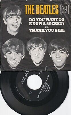 """The Beatles """"DO YOU WANT TO KNOW A SECRET/THANK YOU GIRL"""" VJ W/PICTURE SLEEVE"""