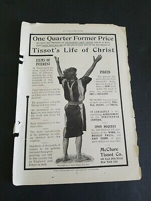1899 OCTOBER AD McCLURES MAGAZINE CENTURIES OF HISTORY & TISSOT,S LIFE OF CHRIST