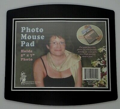 "Custom Insert Photo Mouse Pad Personalized Picture Frame Customizable 5"" x 7"""