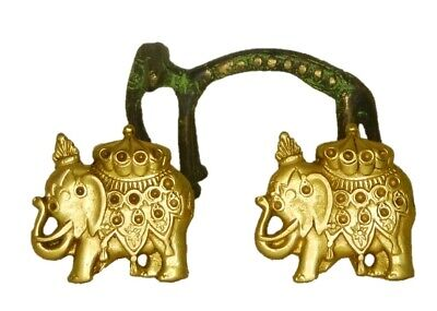 Elephant Shape Brass Handmade Table Cabinet Drawer Window Pull Knob Paperweight