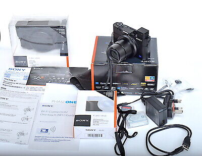 Sony Cybershot DSC RX100IV 20.1mp Digital Compact Camera *EXC*  Bundle