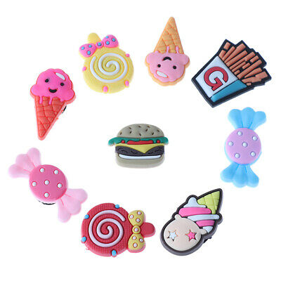10 Pcs Food Type Cartoon Shoe Buckle Decoration shoe Accessories On Sh KW