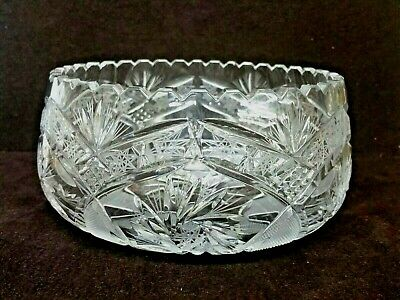 Contemporary Crystal Glass Fruit Bowl