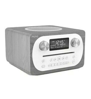 Pure EVOKE-CD4-GREY All-In-One CD Music System Bluetooth DAB