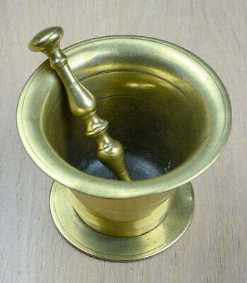 Antique Brass Pestle and Mortar