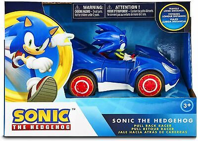 Official Sonic the Hedgehog Movie SEGA Racing Pull Back Large Size Toy Car- Blue