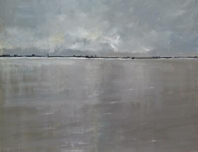 ORIGINAL MALCOLM LUDVIGSEN The Humber from Hull yorkshire lincolnshire PAINTING