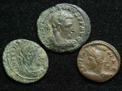 Set of 3 Roman Imperial AE coins 4th century AD